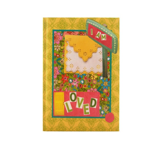 "Reserved. Journal entitiled, ""I Am Loved"" with Yellow, Pink, Green, & Turquoise. 5 in by 7 in with 80 lined sheets."