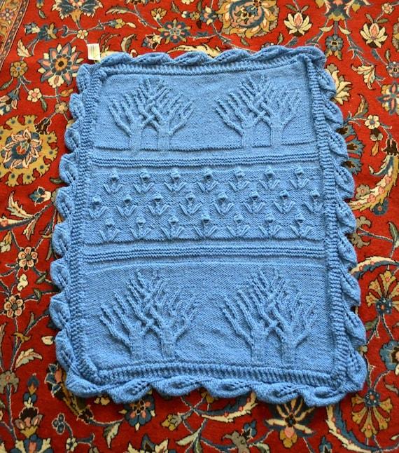RESERVED for Janet - DEPOSIT - Blue Tree of Life Blanket