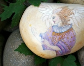 Victorian Angel. Handpainted Mixed Media Angel. Lavender. Blue. Cream. Gift For Mother's Day. Original OOAK