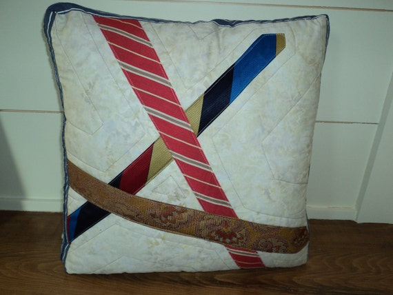 Recycled Tie Pillow
