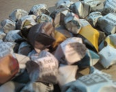 Upcycled Newspaper Lucky Stars - Set of 80