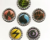 LOT of 6 Energy Card pendant keychain charm necklace magnet made from TRADING CARDS - Singles Available -