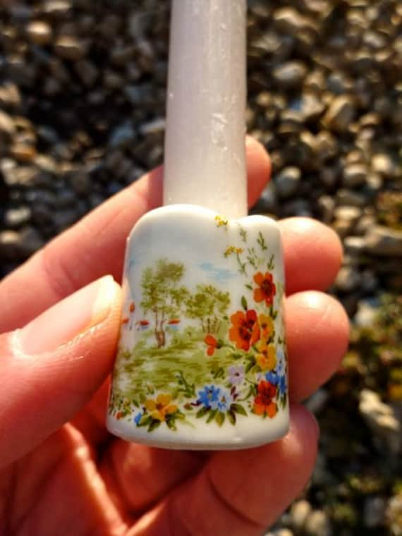 Mini candle holders - summer floral