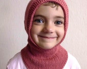 Knit Hood with turtleneck cowl PATTERN PDF