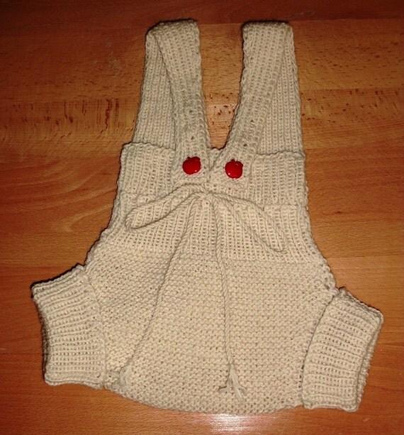 Knit Wool Soaker Pattern : Soaker PATTERN PDF Knit Toddler Soaker with Braces