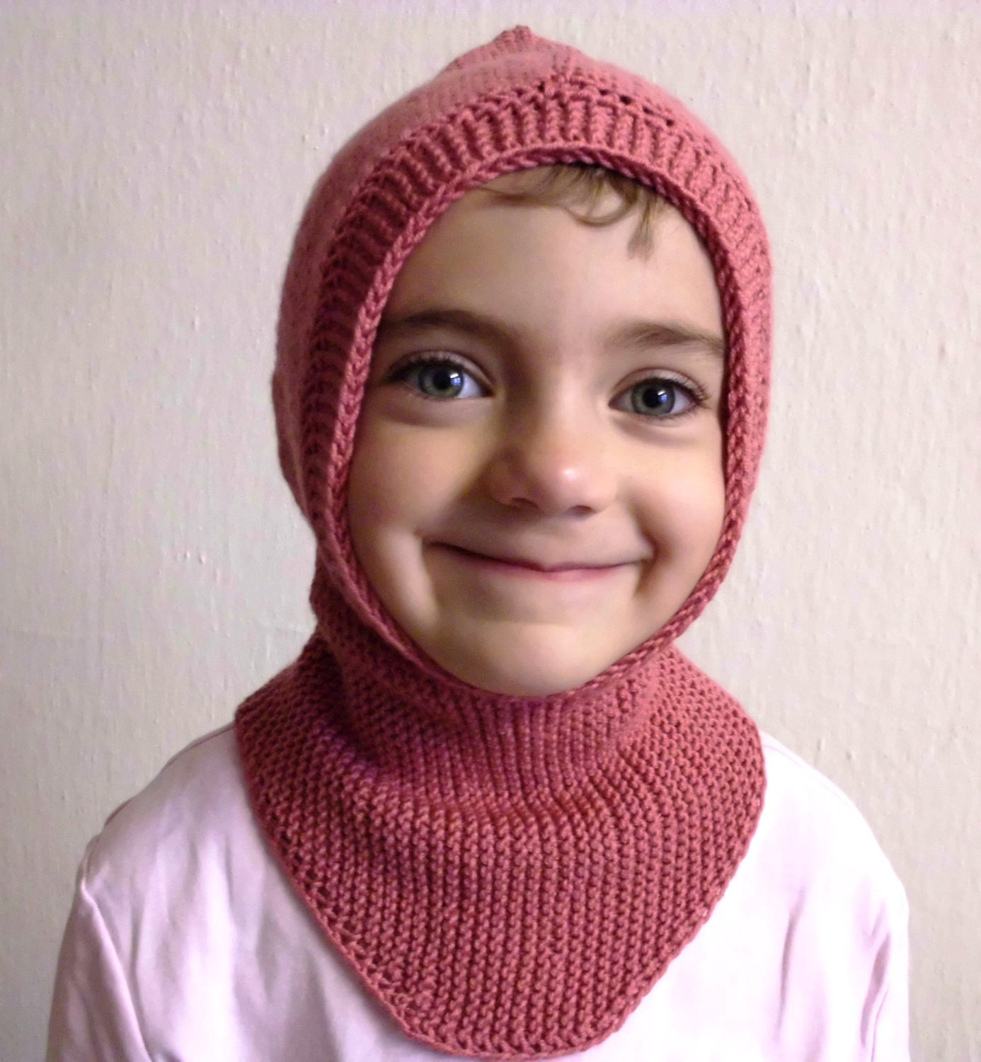 CUSTOM WORK - Adult or Kids knit hood cap shawl scarf turtleneck collar