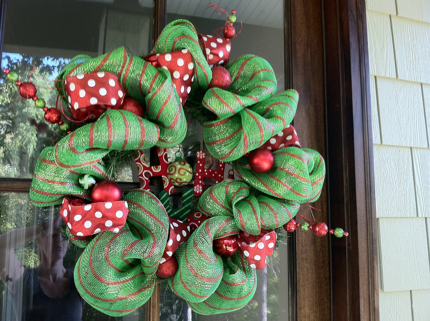 Deco Mesh Christmas Wreath By DirtRoadCreations1 On Etsy