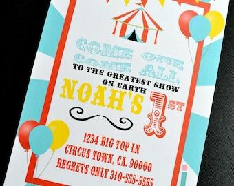 Carnival/Circus Printable Invitation