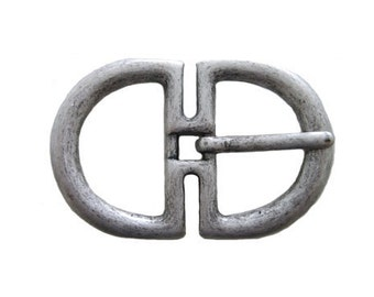 """2-D Center Pin Basic Leather Belt Buckle - Available in Antique Silver, Dark Silver, Antique Gold, and Gold - Fits All 1.5"""" Wide Belts"""