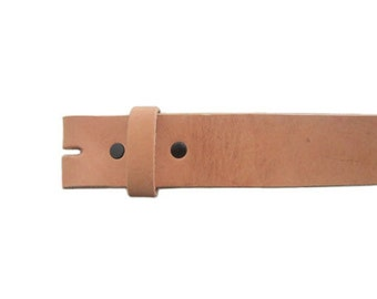"""Natural Calfskin 1.5"""" Wide Leather Belt - Available up to Size 40"""