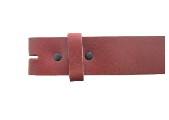 """Vintage Red 1.5"""" Wide Leather Belt - Available up to Size 40"""