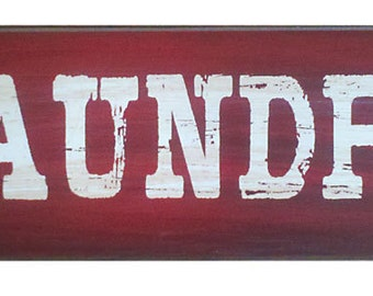"""Rustic  """"Laundry"""" wood sign"""