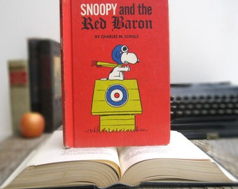 Kindle Cover or Nook Cover- Ereader Case made from a Book- Snoopy and the Red Baron