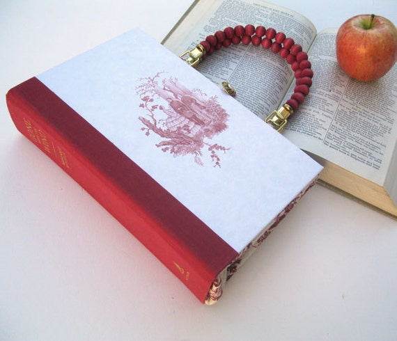 Gone with the Wind Book Purse Handbag and Kindle Ereader Cover- Toile (with compact pocket mirror)