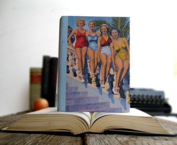 Kindle Cover or Nook Cover- Ereader Case made from a Book- Beach Beauties