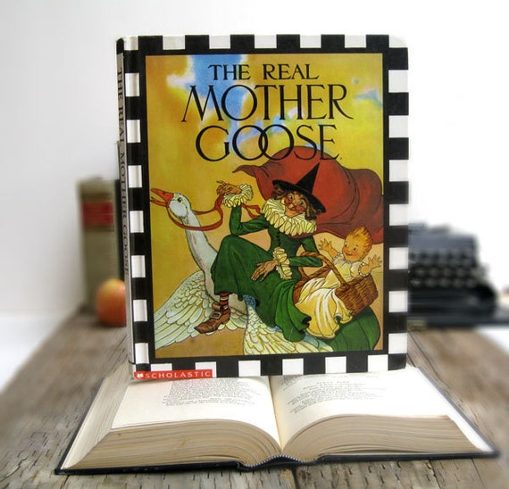 IPAD Cover- Tablet Case made from a Book- Mother Goose
