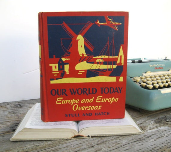Vintage IPAD Cover- Tablet Case made from a Book- Our World Today- Europe and Europe overseas
