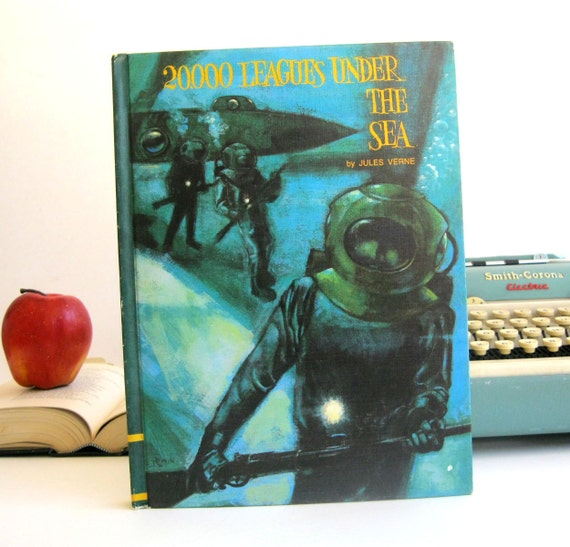 IPAD Cover- Tablet Case made from a vintage Book- 20000 Leagues Under the Sea