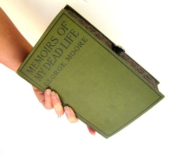 Vintage Book Clutch Purse- Memoirs of My Dead Life