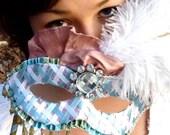 HALLOWEEN SALE: Wedding Bridal Formal Prom Masquerade Mask - Carnival Bride - Masquerade Ball Costume