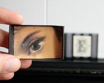 Matchbox Art Magnet Box E is for Eye Clearence