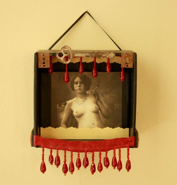 Hand Made Shadowbox Gypsy of Mystery