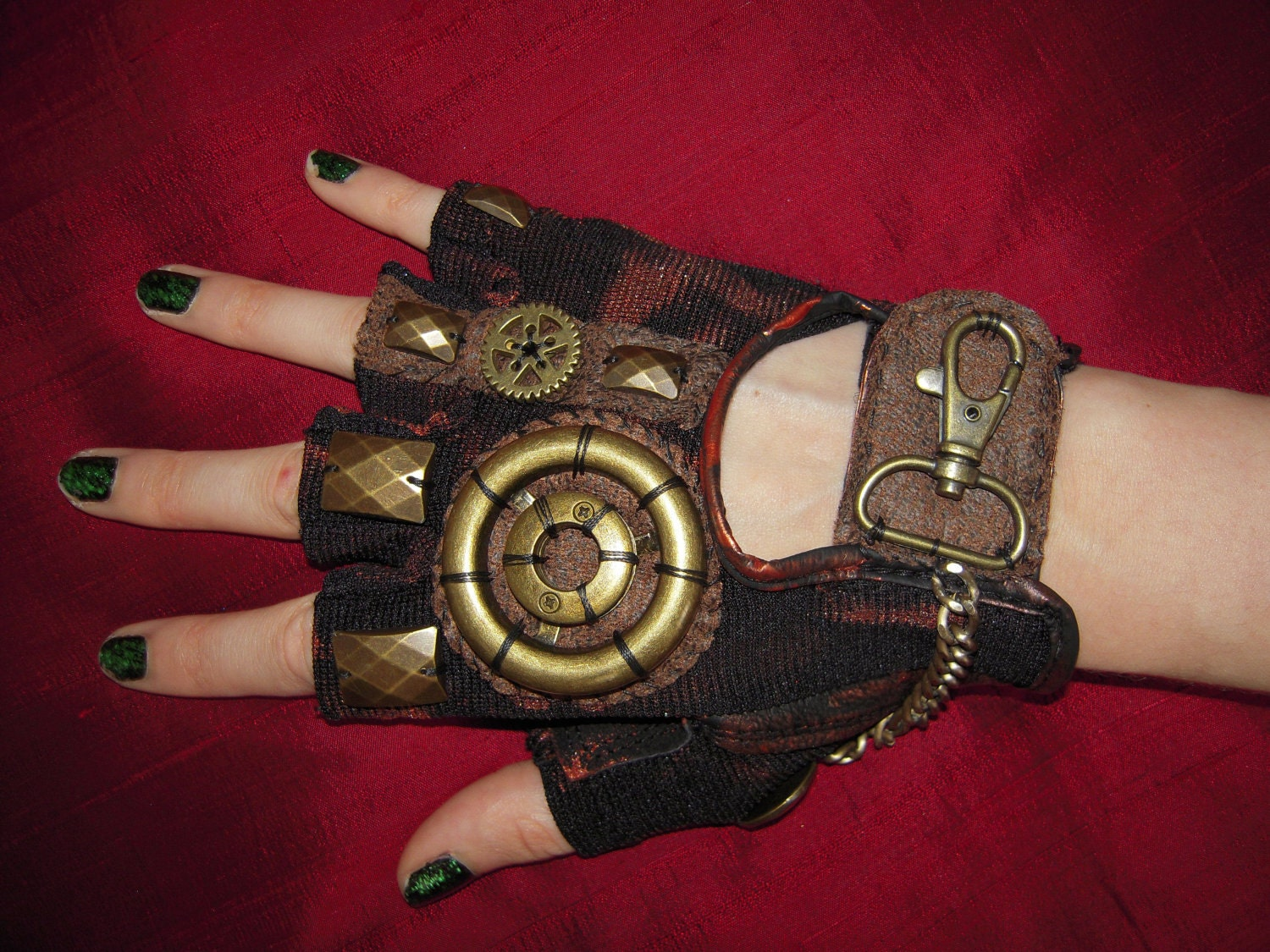 womens steampunk moonhoar monster glove by moonhoar on etsy