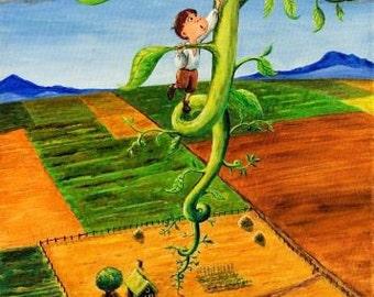 Jack and the Beanstalk - Childrens Art Print