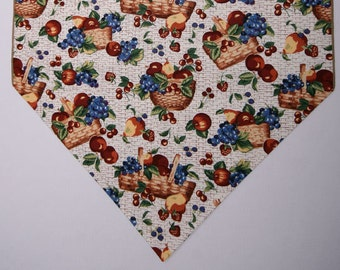 "Fruit Baskets Table Runner, Longaberger Baskets Table Runner, 36"" Table Runner, Basket Theme Decor"