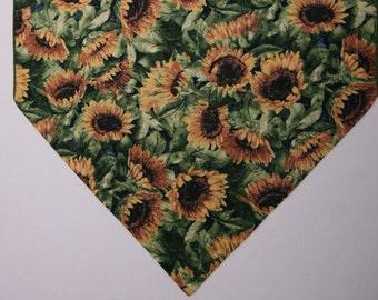 """Sunflower Table Runner, Country Table Runner, Home Decor, Table Top Decor, 72"""" Table Runner, Sunflowers"""