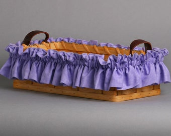 Large Lavender Basket Garter