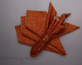Rust Leaf Napkins