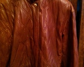 Vintage Leather Escada Quilted Bomber Jacket