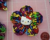 Autism Awareness Hello Kitty Hairclip