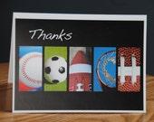 Thank You Coach Alphabet Letter Art Card