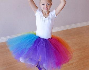 Childs Rainbow Short Tutu Skirt - Wedding - Ballet - Photo Shoot - CUSTOM COLORS