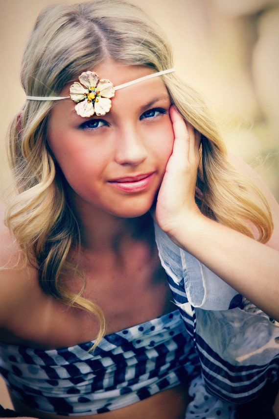 Flower Headband - 4 Colors to Choose - Newborn - Youth - Teen - Adult