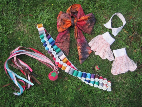 Upcycled Costume Accessory Kit - 5 Piece Set - Mad Hatter - Alice in Wonderland
