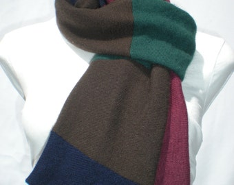 50% OFF CLEARANCE-Recycled Cashmere Scarf: Ivy League