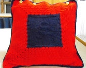 Handmade crochet Star Trek cushion or pillow cover P&P FREE