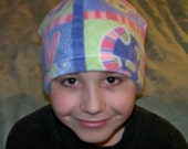 Beanies for Baldies pastel dragonflies and turtles Fleece Beanie hat