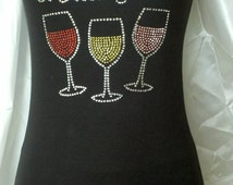 2xl At My Age I Need Glasses Sample Rhinestone Wine-themed tank top