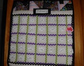 Calendar Wall Hanging Groovy Quilted Perpetual/Forever Classroom Home Work