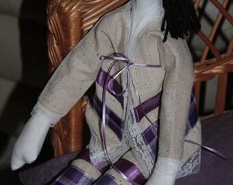 Penelope Purple Doll Handmade One of A Kind