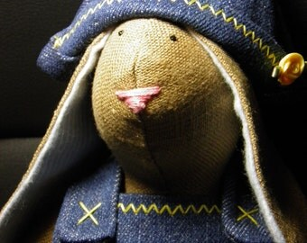 Bluejean Bunny Doll Handmade ADORABLE