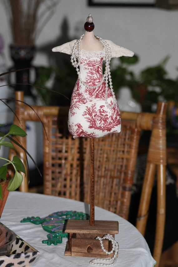 Jewelry Mannequin Angel Stand Display With Drawer/Pin Cushion