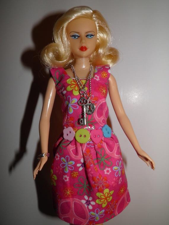 Handmade Ooak Dress For Barbie Like Dolls Peace
