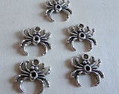 SALE Silver Spider Charms 5pcs