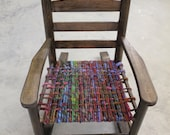 Sweet Sheepy Seats - Beautiful child's rocking chair with hand dyed wool seat