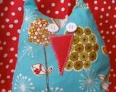 Dill Blossom Stuffed Owl